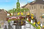 Velikonoční trhy v centru Prahy v roce 2019 zkrášlí živé květiny.