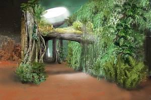 Vizualizace nového pavilonu goril v pražské zoo.