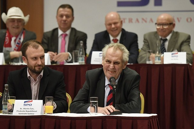 Miloš Zeman na sjezdu SPO.