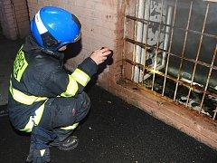 Při požáru bytu v Praze 10 hasiči zachránili 17 osob.