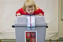Komunální volby začaly 10. října po celé republice. Na snímku ZŠ Brdičkova na pražských Lužinách.