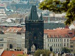 Staroměstská mostecká věž v Praze.