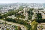 Strojírenský závod v Malešicích by se měl proměnit v bytový areál pro zhruba 2500 lidí - vizualizace.