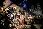 Vánoční trhy na náměstí Míru v Praze 29. listopadu.