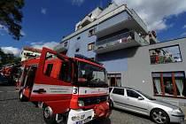 Požár koupelny v obytném domě v ulici Ke Stírce v Praze 8.