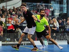 Duo finalistů mistrovství republiky jednotlivců Daniel Mekbib (ve žlutém) a Martin Švec.