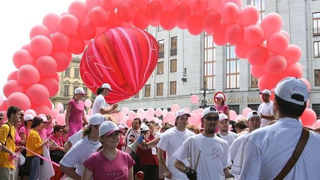 Pochod proti rakovině prsu 2007