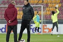 Trenéři Tomáš Požár s Davidem Holoubkem.