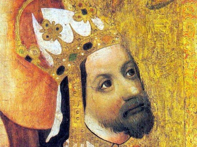 Karel IV. z Votivního obrazu Jana Očka z Vlašimi.