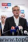 Top 09 zahájila 4. září v Praze svoji kampaň do podzimních parlamentních voleb. Na snímku Miroslav Kalousek