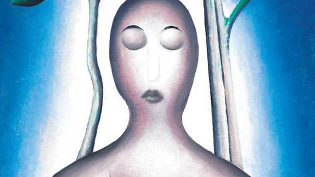 BIBLICKÉ MOTIVY. Zrzavý se často uchyloval k látce křesťanské víry. Obraz Meditace (1915).