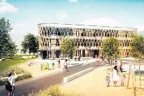 Nová stavba nabídne vedle tříd i komunitní centrum.