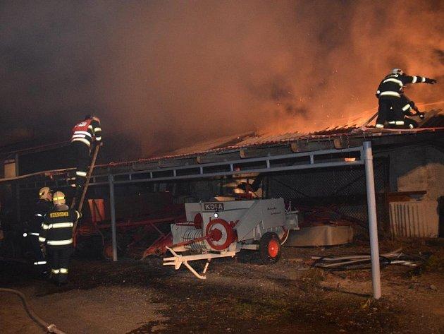 Požár v Jílovišti.