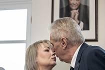 Prezident Miloš Zeman a jeho manželka Ivana Zemanová.