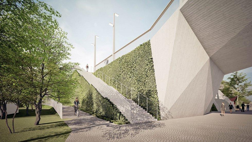 Praha zveřejnila nové vizualizace k plánované stavbě Dvoreckého mostu.