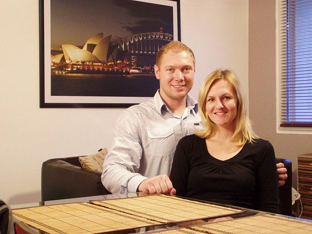 Podnikatelka Veronika Matějčková se svým manželem.