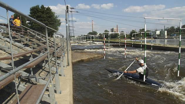 Kanál v Troji - Umělý kanál pro vodní slalom v Praze-Troji (na archivním snímku).