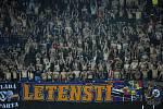 Fotbalové utkání HET ligy mezi celky AC Sparta Praha a FK Jablonec 20. dubna v Praze. Ultras Sparty.