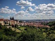 Praha pohled na město.