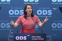 Šéfka pražských zastupitelů ODS Alexandra Udženija na volebním kongresu v O2 universum.