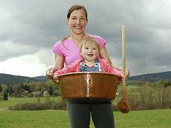 Výrobkyně marmelád Blanka Milfaitová čeká aktuálně druhou dceru.