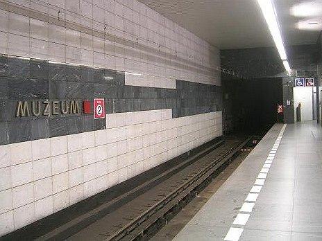 Metro C - stanice Muzeum. Ilustrační foto.