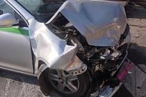 Nehoda na křižovatce ulic Povltavská a Bulovka v Praze 8.