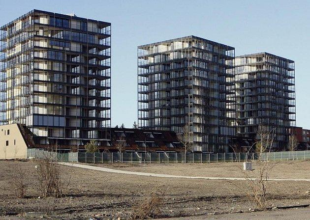 Central park na Žižkově – o zdejší luxusní byty je nyní nižší zájem.