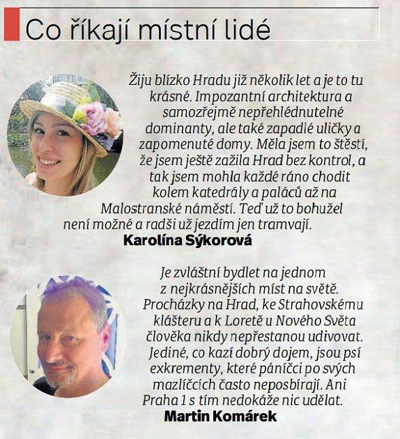 Místní lidé - Hradčany.