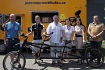 Jedeme pro Světlušku – velká letní cyklojízda odstartovala ve středu 1. července 2015 v pražském sportovním centru Hamr - Braník.