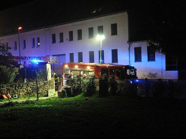 Požár vStřížkovské ulici.