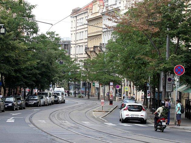 Vinohradská ulice.