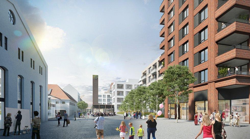 Vizualizace nového bydlení v objektu bývalého pivovaru v Nuslích.
