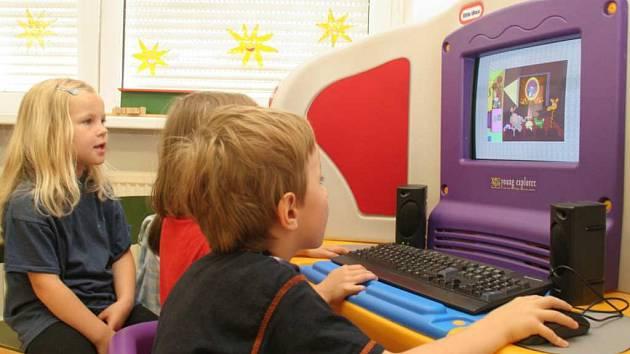 Dětský počítač. Ilustrační foto.