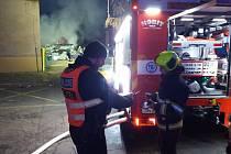 Jednotky IZS zasahovaly u požáru v Hloubětíně.