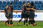 Utkání 6. kola fotbalové Fortuna ligy: FC Baník Ostrava - Slavia Praha, 4. října 2020 v Ostravě. Radost Slavie.