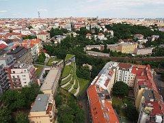 Vizualizace bytového domu Zvonařka v Praze.