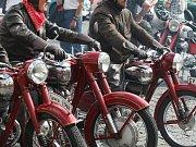 Motocykly veteráni. Ilustrační foto.