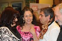 Eva Lustigová s architektem a Deanou Jakubiskovou