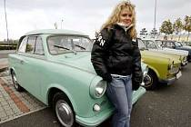 Pyšná majitelka Trabantu Gabriela Ningerová.