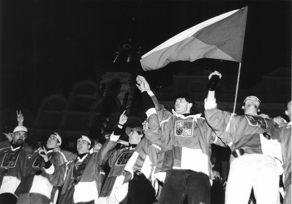 Návrat českých hokejistů z olympiády, která se konala v Naganu.