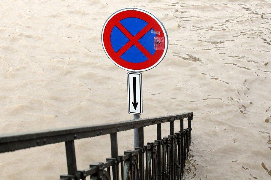 Záplavy v centru Prahy 3. června.