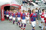 Hráči Slavie a kodaňského Fremu nastupují k zápasu o třetí místo