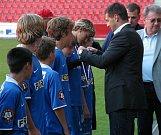 Fotbalisté Baníku se dočkali stříbrných medailí