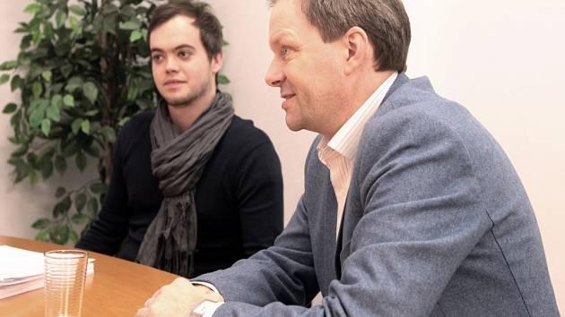 Ministr školství, mládeže a tělovýchovy Marcel Chládek navštívil Univerzitu Jana Amose Komenského v Praze 3 za doprovodu rektora Luboše Chaloupky.