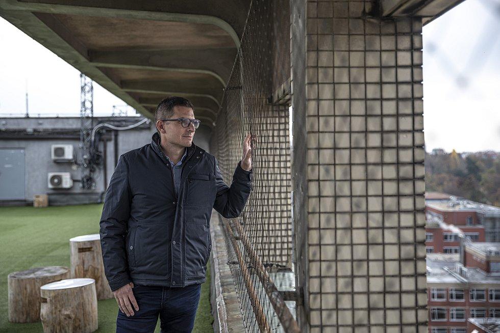 Podnikatel Martin Louda poskytl 13. listopadu 2020 v Praze na střeše domu Radost rozhovor Deníku.