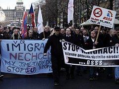 Výročí Sametové revoluce v Praze 17. listopadu.