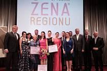 Ze slavnostního vyhlášení šestého ročníku soutěže Žena regionu v hotel Ambassador na Václavském náměstí v Praze.