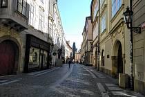 Karanténa vyprázdnila centrum metropole. Celetná ulice.