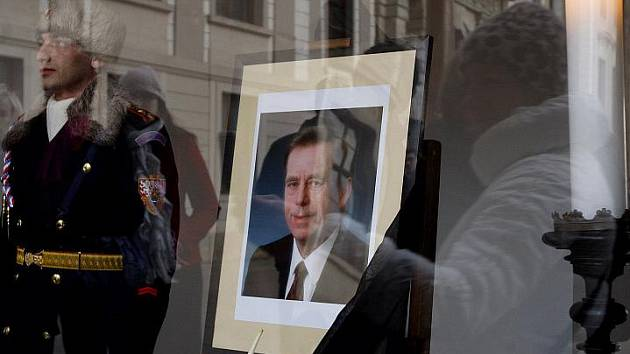 Pietní akt na Pražském hradě na počest bývalého prezidenta Václava Havla.